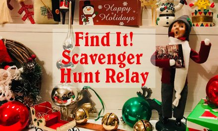 Find It Christmas Scavenger Hunt Relay