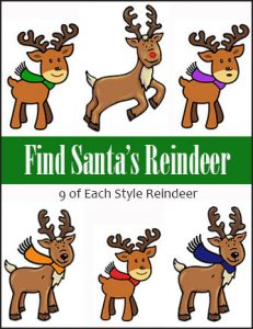 Find Santa's Reindeer Scavenger Hunt Game