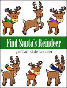 Find Santa's Reindeer Scavenger Hunt Game
