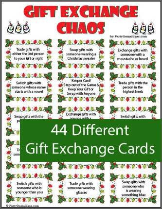 Gift Exchange Chaos - Holiday Party Game