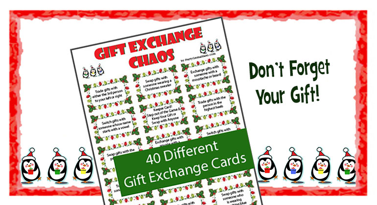 Gift Exchange Chaos - Printable Holiday Game