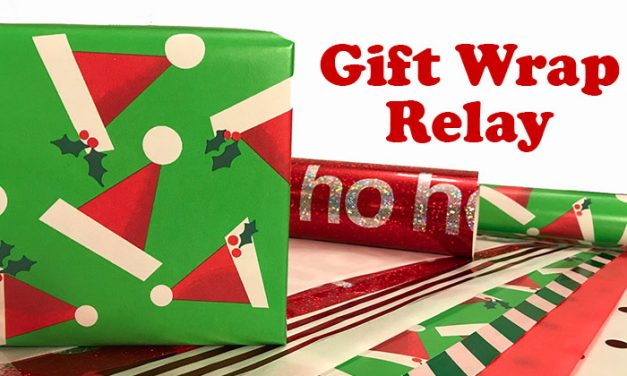 Holiday Gift Wrap Relay