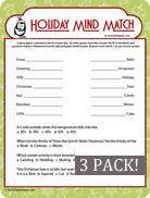 Holiday Christmas Mind Match - A Fun Kids Party Game