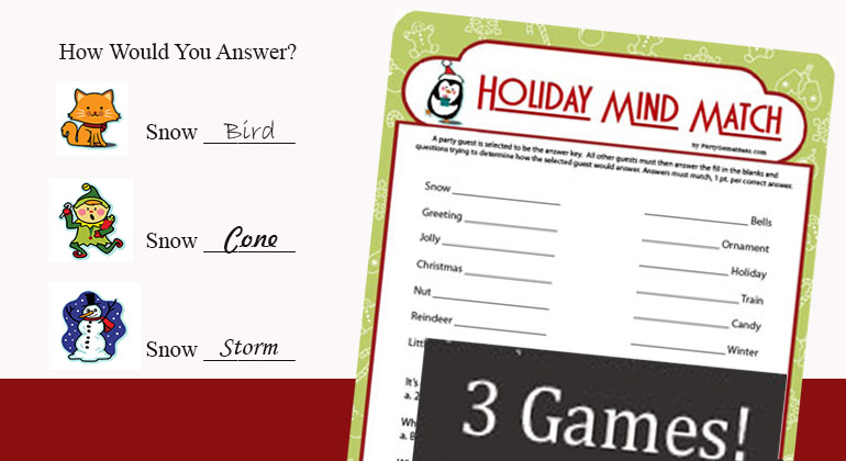 picture regarding Printable Christmas Games With Answers titled Getaway Head Activity - Printable Xmas Social gathering Video game for Little ones