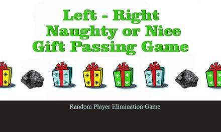 Left Right Naughty or Nice Gift Passing Game