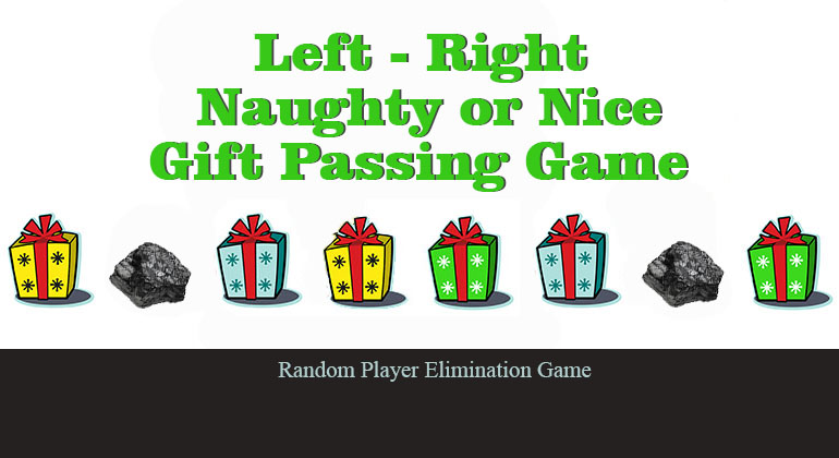 Left / Right Naughty or Nice Gift Passing Game - Christmas Party Game