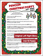 Penguin Christmas Party Left Right Gift Passing Game