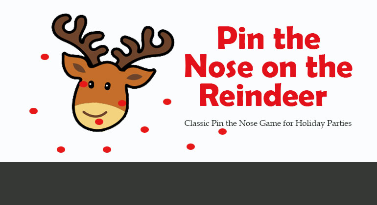 image relating to Pin the Nose on the Reindeer Printable named Pin The Nose upon the Reindeer - Xmas Get together Recreation