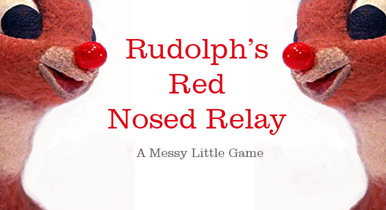 image about Pin the Nose on the Reindeer Printable called Rudolphs Purple Nosed Relay Sport - Small children Xmas Game