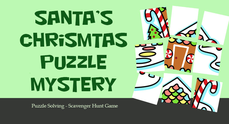 Santa S Christmas Puzzle Mystery Office Group Scavenger Game