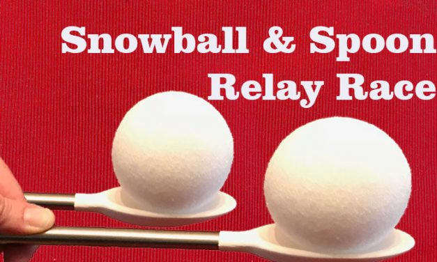 Snowball and Spoon Relay Race