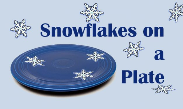 Snowflakes on a Plate