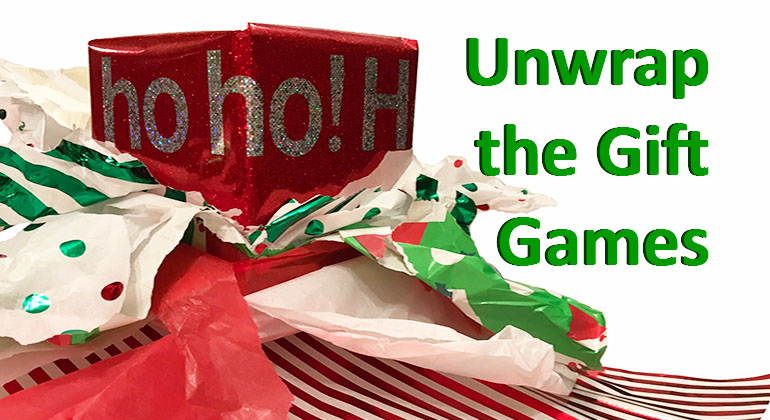 unwrap the gift games pass the parcel christmas party games