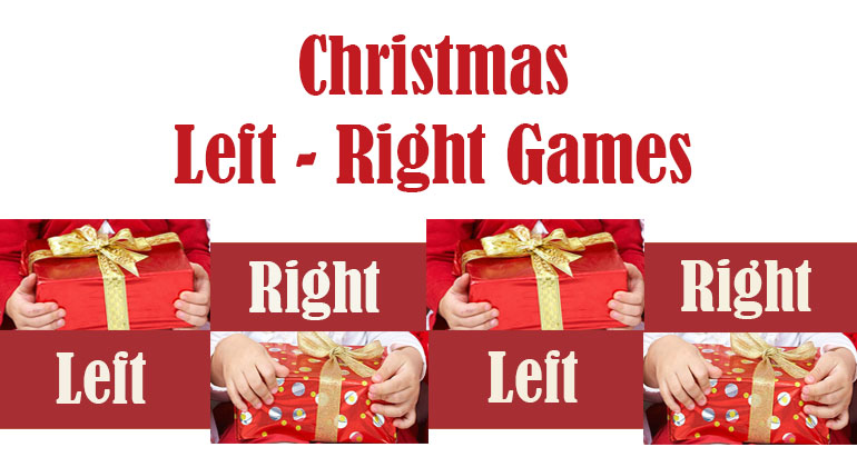 image relating to Christmas Left Right Game Printable named 3 Xmas Remaining Specifically Game titles