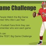 Big Game Football Trivia Game