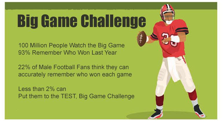 Big Game Football Trivia Game