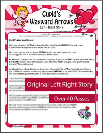 Valentines Day Left Right Story - Cupid's Wayward Arrows