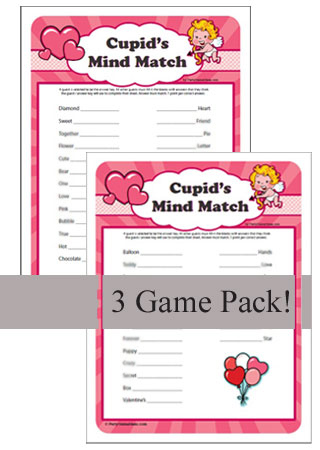 Cupid's Mind Match - Valentines Day Games