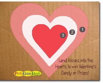 Valentine's Heart Target Game