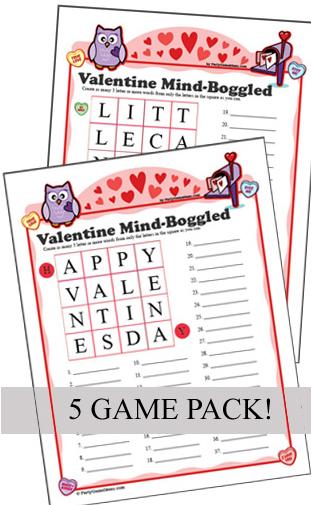 Valentine Mind Boggled Games - 5 Pack