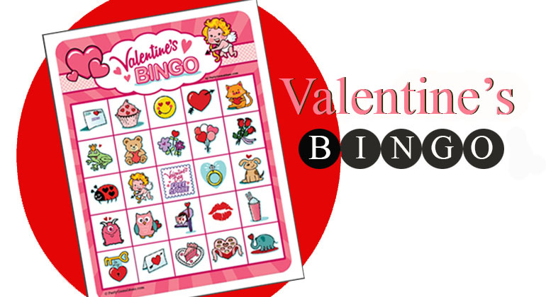 graphic about Printable Valentine Bingo Card named Valentines Bingo Video games - 12, 25 and 40 Card Packs
