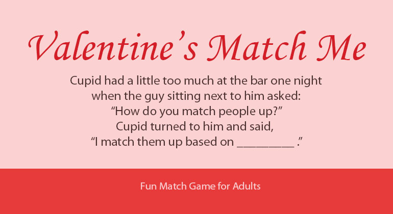 valentine's day match me - printable party game, Ideas