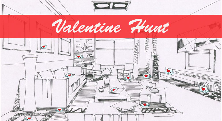 Valentine Card Hunt