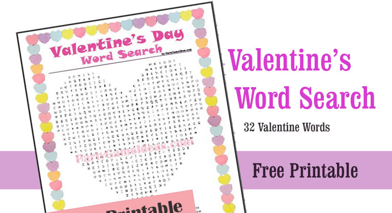 graphic about Valentine's Day Word Search Printable titled Cost-free Valentines Working day Phrase Appear