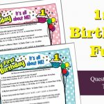 1st Birthday Quiz