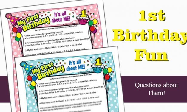 1st Birthday Party Games Ideas and Activities
