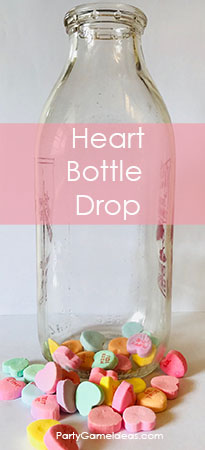 Candy Heart Bottle Drop - Kid's Valentines Day Game