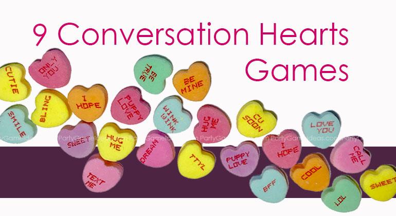 9 Conversation Hearts Games