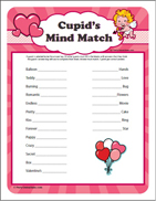 Valentine's Day Mind Match - Kids Party Game