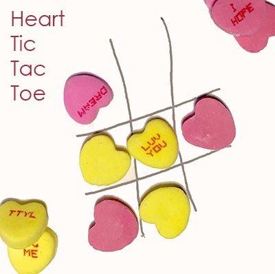 Candy Heart Tic Tac Toe