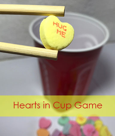 Conversation Hearts in Cup Game - Kids Valentine's Party Game