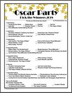 Free Printable Pick the Oscars Sheet