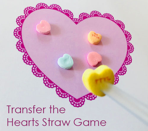 Valentine's Transfer the Hearts Straw Game - Kids Party Games