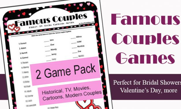 Printable Famous Couples Game