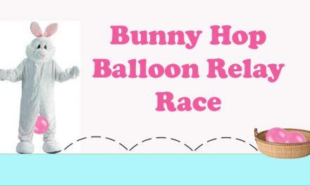 Bunny Hop Balloon Relay Race