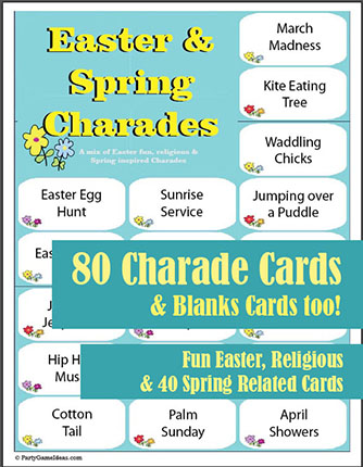 80 Easter Charades - Spring Charades Game