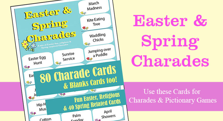 graphic regarding Charades Printable named Printbale Easter Charades - Spring Charades Video game