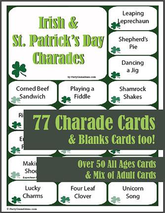 St. Patrick's Day Charades & Pictionary