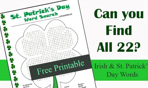 Free St Patricks Day Word Search