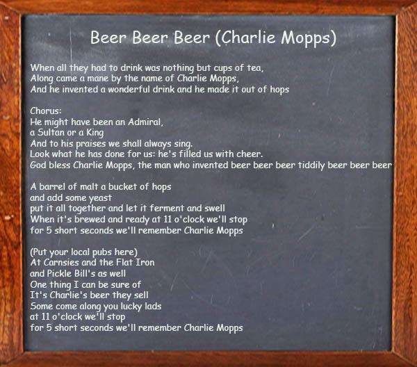 Beer Beer Beer - Irish Song
