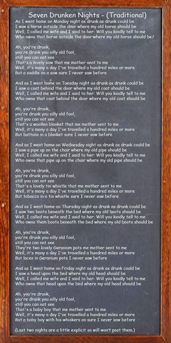 Seven Drunken Nights - Traditional Irish Song