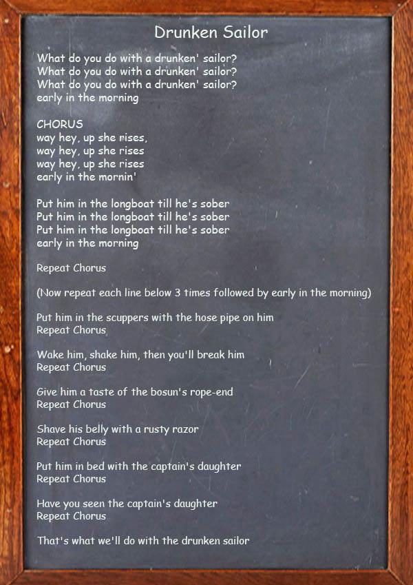 Drunken Sailor - Irish Song Lyrics