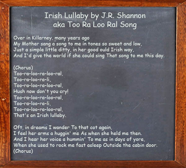 Irish Lullaby - Too Ra Loo Ral Song