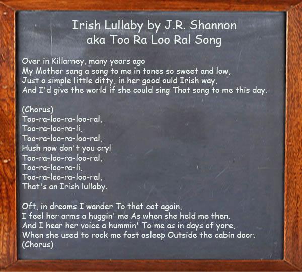 Irish Lullaby - Too Ra Loo Ral Song