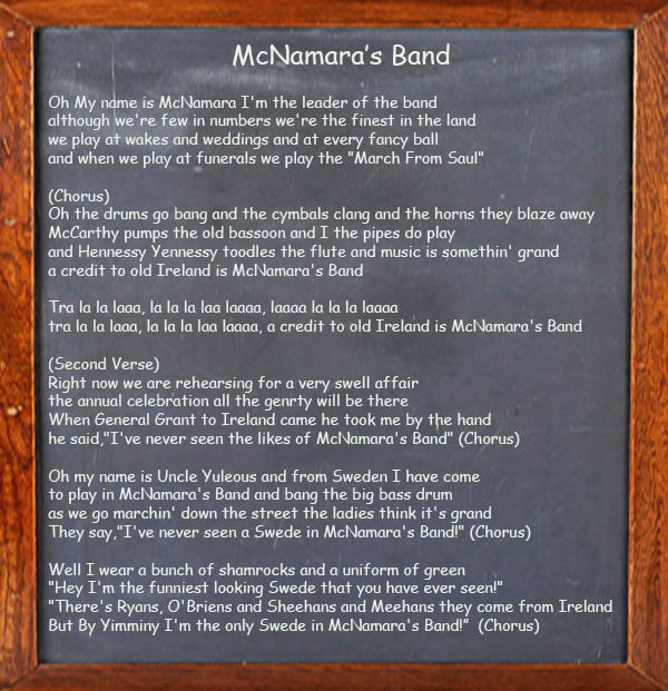 McNamara's Band - Song Lyrics