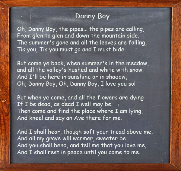 Danny Boy - Song Lyrics